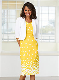 Polka Dot Jacket Dress