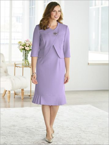 Lovely Lavender Jacket Dress - Image 3 of 3