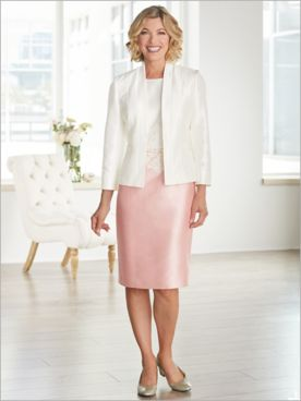 About Lace Jacket Dress