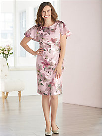 Blushing Lilies Print Dress