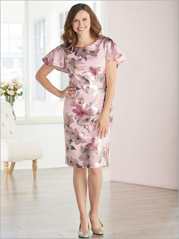 Blushing Lilies Print Dress - Image 3 of 3