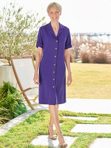 Essential Look-Of-Linen Dress - Image 1 of 4