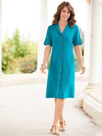Essential Look-Of-Linen Dress - Image 1 of 3