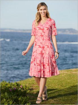 Botanical Burnout Knit Dress