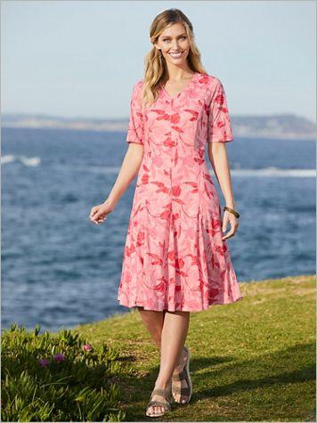 Botanical Burnout Knit Dress - Image 2 of 2