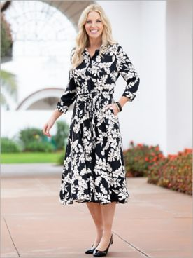 Tropical Hideaway Shirt Dress