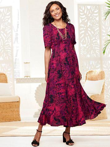 Palm Paradise Smocked Dress - Image 2 of 2