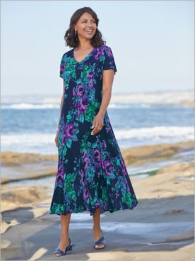 Blue Seas Floral Dress
