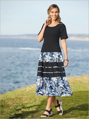 Pacific Breeze Smocked Dress - Image 2 of 2