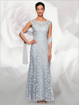 Floral Embroidered Fit & Flair Gown by Alex Evenings
