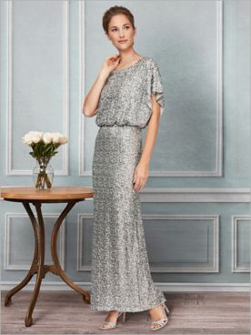 Sequin Blouson Gown by Alex Evenings