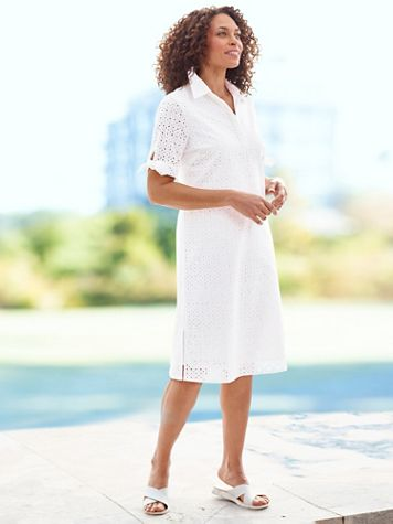 Eyelet Shirt Dress - Image 2 of 2