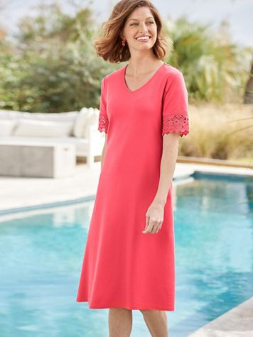 Lovely Lace Knit Dress - Image 1 of 5