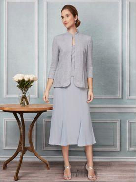 Sparkle Jacket Dress by Alex Evenings