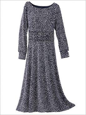 Precious Petals Knit Long Sleeve Dress