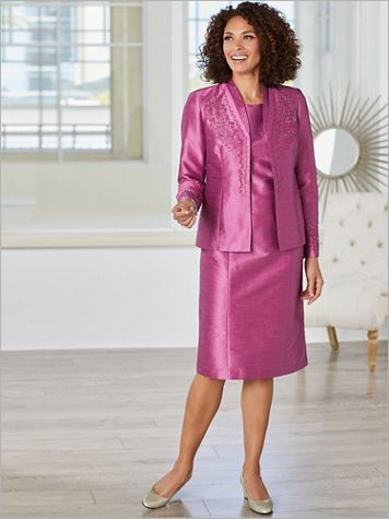 Winterberry Shantung Special Occasion Suit - Image 3 of 3