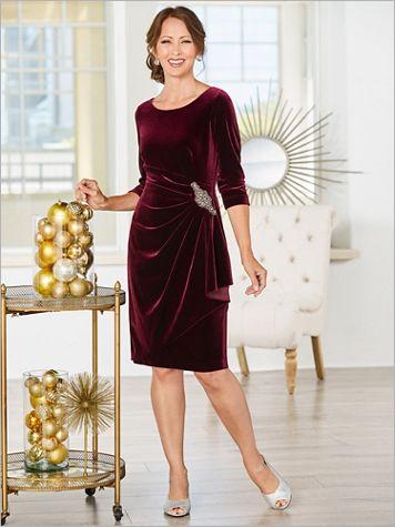 Marvelous Velvet Special Occasion Dress - Image 2 of 2