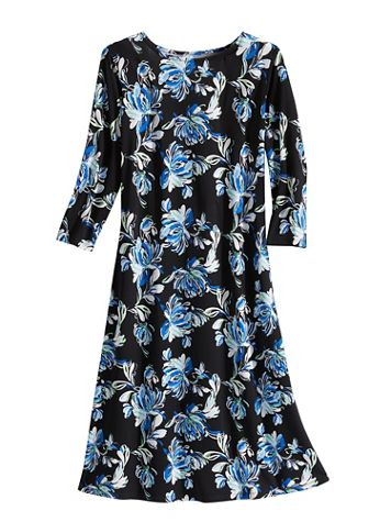 Blissful Blooms Knit 3/4 Sleeve Dress - Image 2 of 2