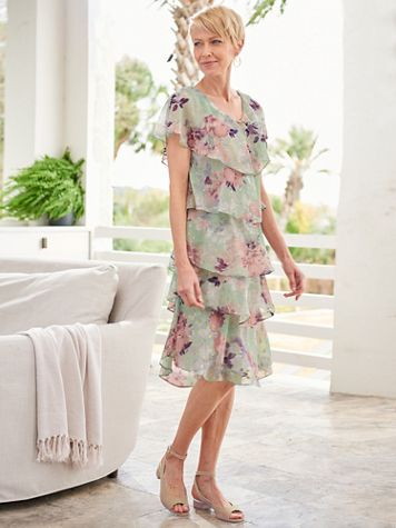 Pastel Petals Tiered Dress - Image 1 of 1