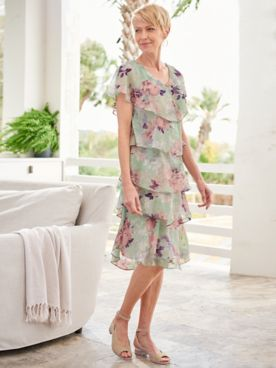 Pastel Petals Tiered Dress