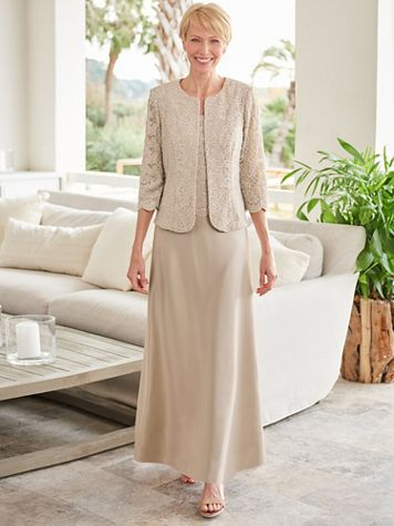 Alex Evenings Luxe Jacket Gown - Image 3 of 3