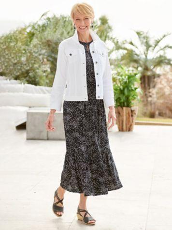 Willow Wisp Dress & Knit Denim Jean Jacket
