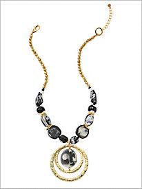 Black Out Pendant Necklace