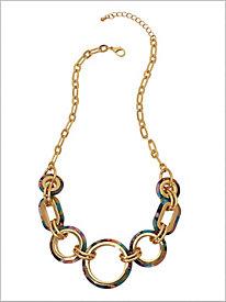 Color Splash Linked Necklace