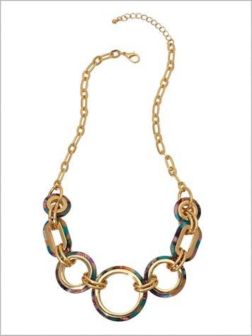 Color Splash Linked Necklace - Image 2 of 2