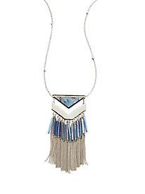 Chevron Shell Tassel Necklace
