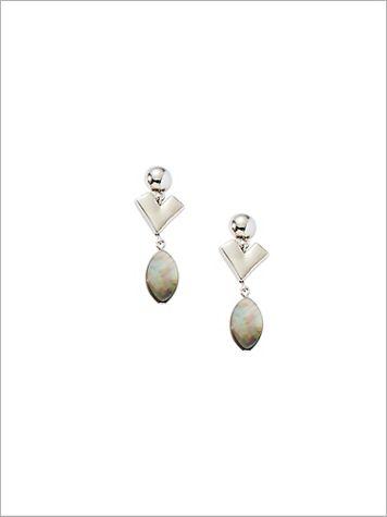 Chevron Shell Tassel Earrings - Image 2 of 2