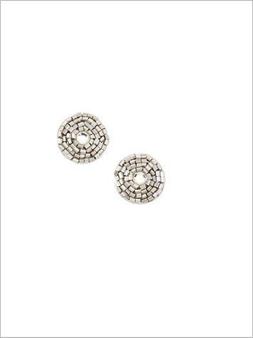 Silver Frost Pendant Earrings