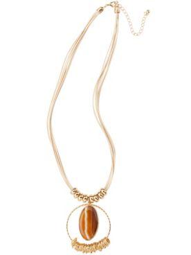 Tiger Eye Pendant Necklace