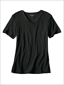 Legendary Silk Base Short-Sleeve V-Neck