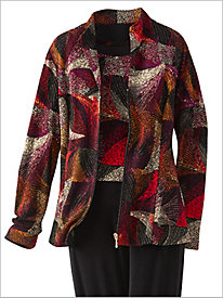Kaleidoscope Textured Jacket