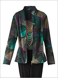 Kaleidoscope Textured Jacket