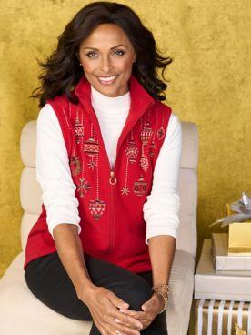 Festive Fleece Vest