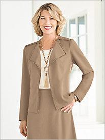 Look-Of-Linen Fancy Fringe Jacket