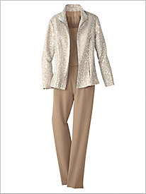 Champagne Wishes Jacket & Look-Of-Linen Separates