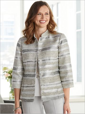 Metallic Stripe Jacquard Jacket - Image 2 of 3