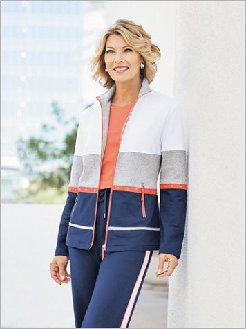 Starboard Colorblock Jacket by D&D Lifestyle™ - Image 2 of 2