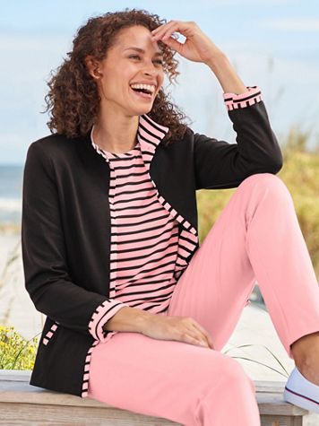 Palm Beach Ponte Knit Jacket by Brownstone Studio® - Image 1 of 5