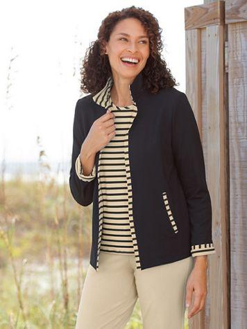 Palm Beach Ponte Knit Jacket by Brownstone Studio® - Image 1 of 2