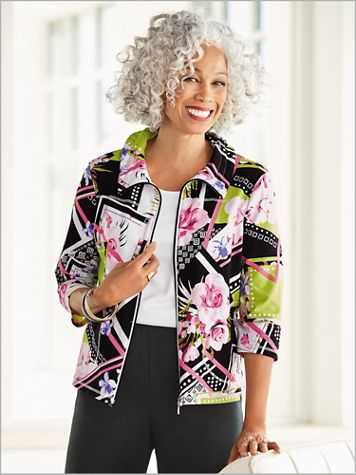 Ribbons And Roses Jacket by D&D Lifestyle™ - Image 2 of 2