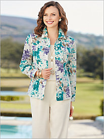 Provence Linen Jacket & Look-Of-Linen Separates