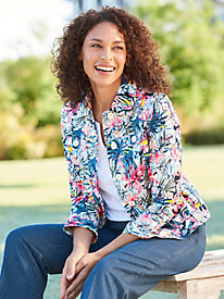 Tropical Punch Print Jacket