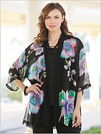 Orchid Watercolor Kimono