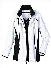 Black, White And Bling Jacket by D&D Lifestyle&#8482