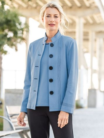 Big Button Ponte Jacket by Brownstone Studio® - Image 1 of 3