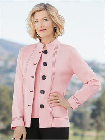 Big Button Ponte Jacket by Brownstone Studio® - Image 1 of 2